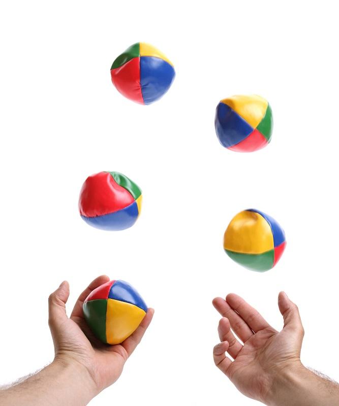 Juggling 5 balls